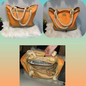 Travel Beach Tote w/ Insulated Cooler
